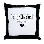 Darcy/Elizabeth Throw Pillow