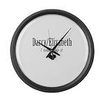 Darcy/Elizabeth Large Wall Clock