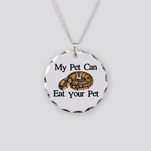 My Pet Can Eat Your Pet Necklace Circle Charm