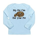 My Pet Can Eat Your Pet Long Sleeve Infant T-Shirt