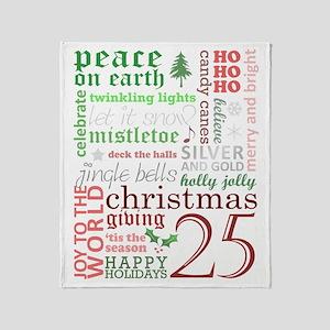 Christmas Words Throw Blanket