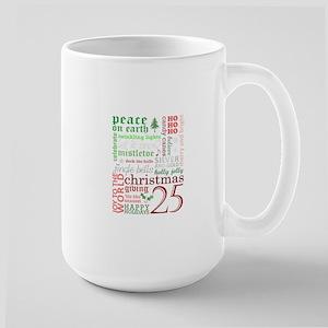 Christmas Words Large Mug