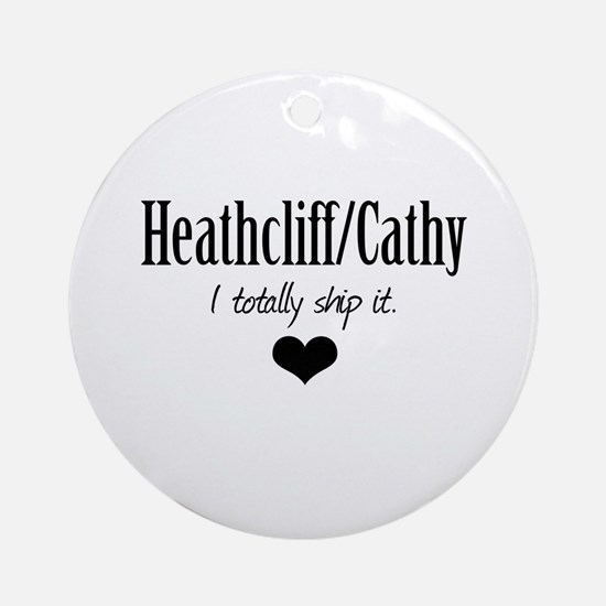 Heathcliff and Cathy Ornament (Round)
