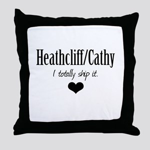 Heathcliff and Cathy Throw Pillow