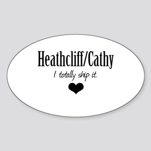 Heathcliff and Cathy Sticker (Oval)