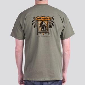 Homeland Security Dark T-Shirt-Back Print