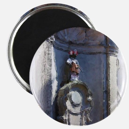Brussels Peeing Boy Magnet