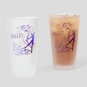 Ballet - scroll Drinking Glass