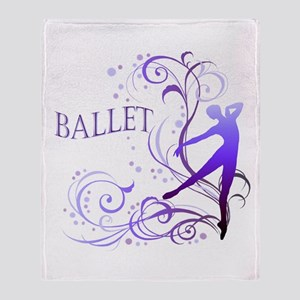 Ballet - scroll Throw Blanket