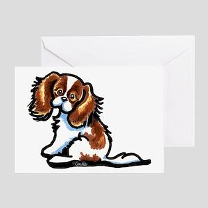 Cute Blenheim CKCS Greeting Card