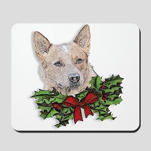 Red Heeler Christmas Mousepad