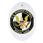 Border Patrol Oval Ornament