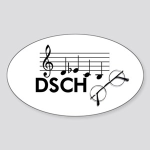 Shostakovich: DSCH Sticker (Oval)