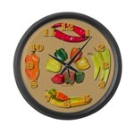 Large Peppers Wall Clock 2