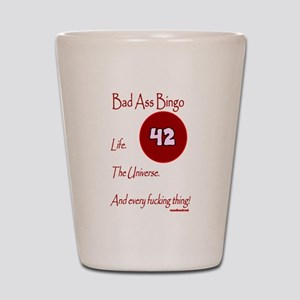 Bad Ass Bingo 42 Shot Glass