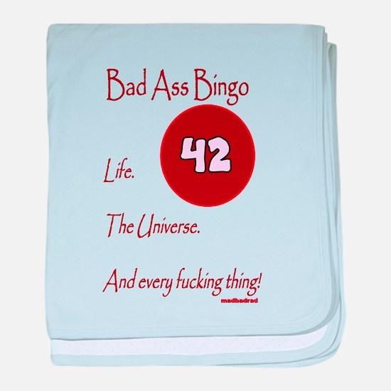Bad Ass Bingo 42 baby blanket