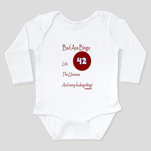 Bad Ass Bingo 42 Long Sleeve Infant Bodysuit