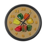 Large Peppers Wall Clock 3