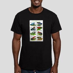Poison Dart Frogs Men's Fitted T-Shirt (dark)