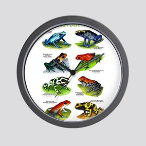 Poison Dart Frogs Wall Clock