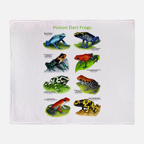 Poison Dart Frogs Throw Blanket