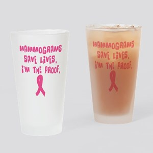 Mammograms Save Lives Drinking Glass