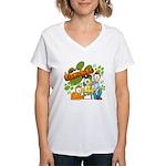 El Show de Garfield Logo Women's V-Neck T-Shirt