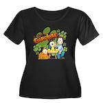 El Show de Garfield Logo Women's Plus Size Scoop N