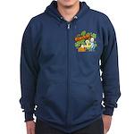 El Show de Garfield Logo Zip Hoodie (dark)