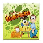 El Show de Garfield Logo Tile Coaster