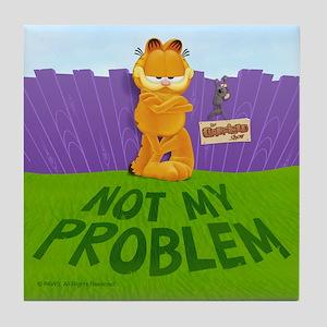 "Garfield ""Not My Problem"" Tile Coaster"