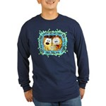 Goofy Faces Long Sleeve Dark T-Shirt