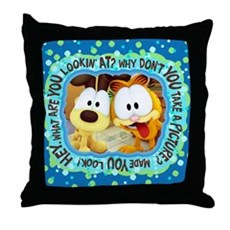 Garfield Goofy Faces Throw Pillow