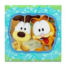 Garfield Goofy Faces Tile Coaster