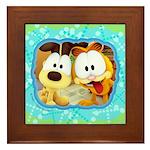 Garfield Goofy Faces Framed Tile