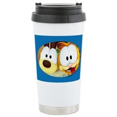 Garfield Goofy Faces Stainless Steel Travel Mug
