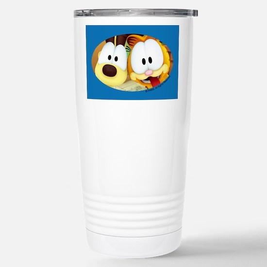 Garfield Goofy Faces Stainless Steel Travel Mug