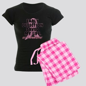 Early Detection Saved My Life Women's Dark Pajamas