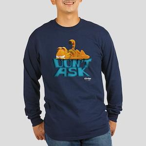 "Garfield ""Don't Ask"" Long Sleeve Dark T-Shirt"