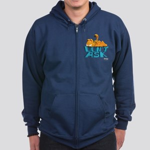 "Garfield ""Don't Ask"" Zip Hoodie (dark)"