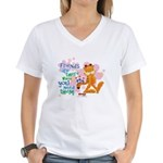 Friends Are There Women's V-Neck T-Shirt