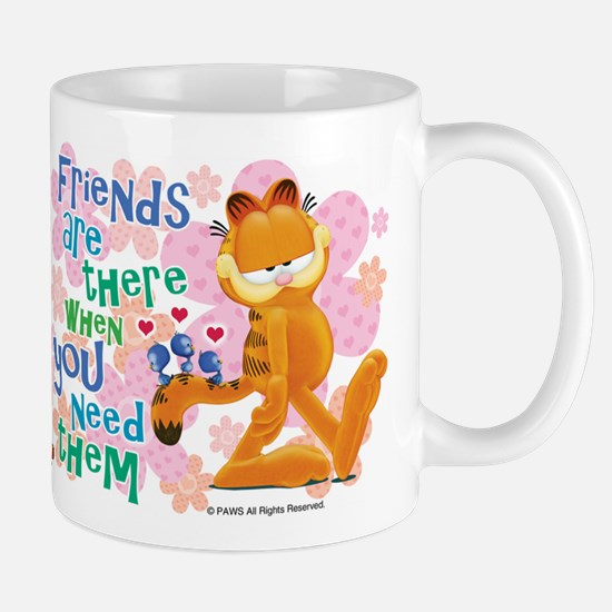 """""""Friends Are There"""" Garfield Mug"""