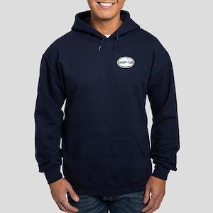 Cape Cod MA - Oval Design Hoodie (dark)