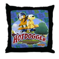 Garfield Hotdogger Throw Pillow