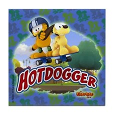 Garfield Hotdogger Tile Coaster