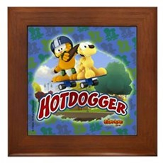 Garfield Hotdogger Framed Tile