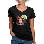 I'm Adorable Women's V-Neck Dark T-Shirt