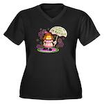 I'm Adorable Women's Plus Size V-Neck Dark T-Shirt