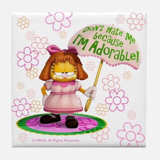 "Garfield ""I'm Adorable"" Tile Coaster"