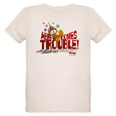 Here Comes Trouble Organic Kids T-Shirt